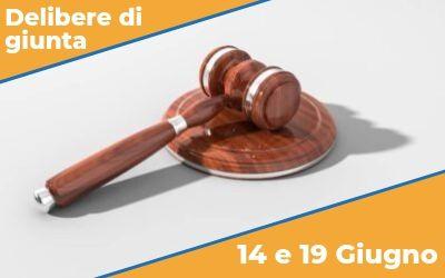 Delibere di Giunta sedute del 14 e del 19 giugno 2019