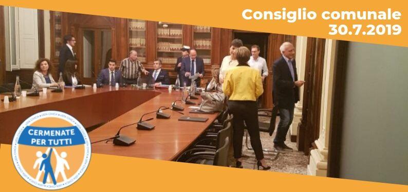 Resoconto del Consiglio Comunale del 30.07.2019