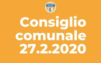 Resoconto consiglio comunale del 27 Febbraio 2020