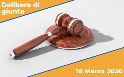 Delibere di Giunta del 18 Marzo 2020