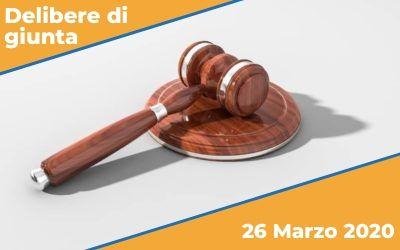 Delibere di Giunta del 26 Marzo 2020