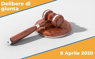 Delibere di Giunta dell'8 Aprile 2020