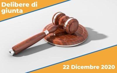 Delibere di giunta seduta del 22 Dicembre 2020