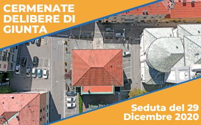 Delibere di GIUNTA seduta del 29 Dicembre 2020